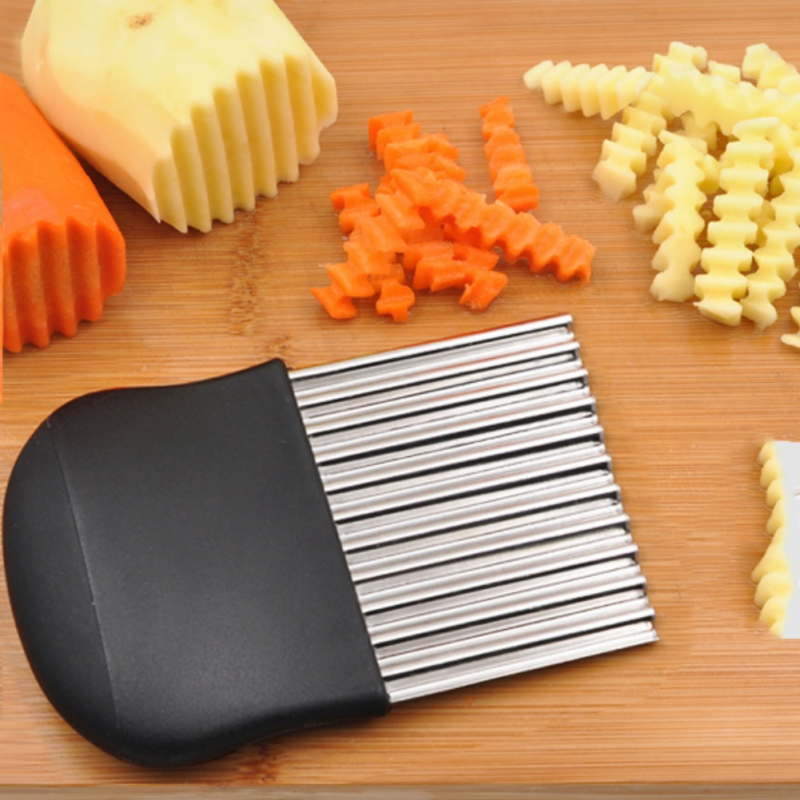 Carrot Crinkle Wavy Potato Chip Dough French Fries Cutter Blade Slicer Stainless