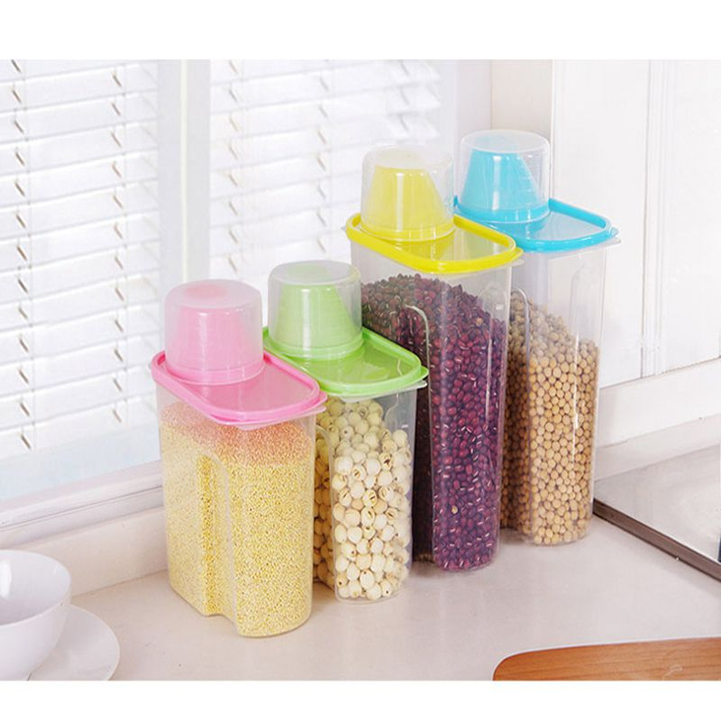 Pet Dog Cat Food Storage Container Sealed Cans Foods Cup Lar